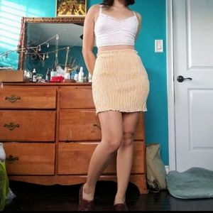 🌻Sunny form-fitting comfy skirt🌻
